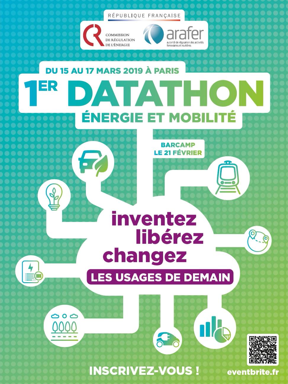 Affiche Datathon - 15 au 17 mars 2018