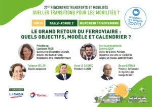 Bernard Roman, Président de l'Autorité de régulation des transports, invité à intervenir aux 27èmes rencontres Transports et Mobilités