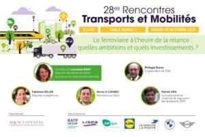 Patrick Vieu, vice-président de l'ART, intervient aux 28es rencontres Transports et Mobilités